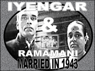 Iyengar and Ramamani Marriage