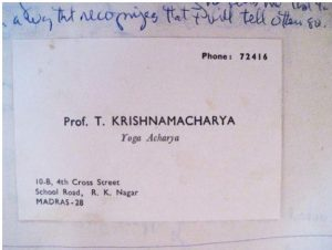 Krishnamacharya Business Card