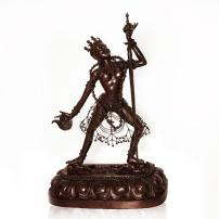 Vajrayogini Statue Modern Warrior Pose Buddhism Goddess Fierce Bronze