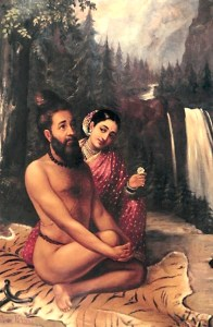 Vishvamitra, from a story where Indra sent Menaka to seduce him away from his penance. .