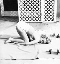 Marilyn-Monroe-Balasana-Childs-Pose