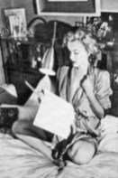 Marilyn-Sukhasana-Reading-Script-in-Bed-200x300