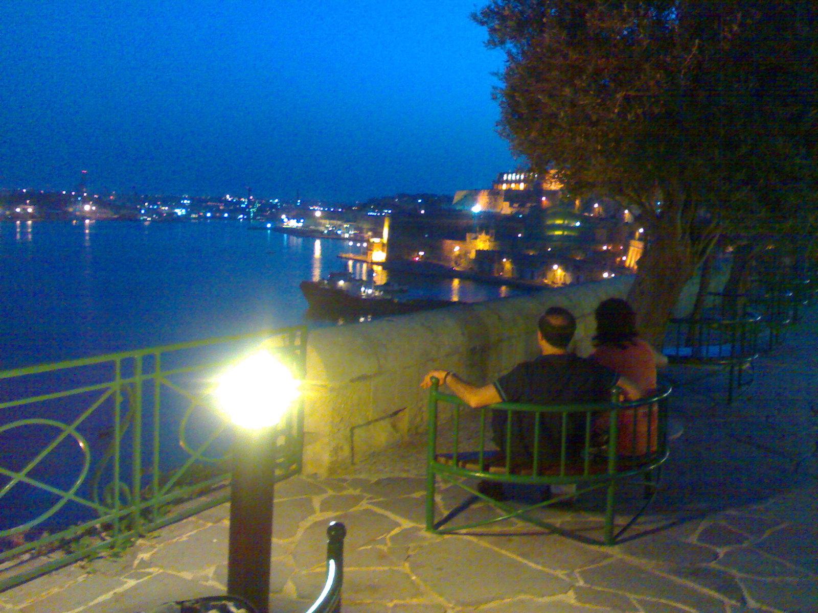 Valletra Harbor-From Lower Barrakka gardens