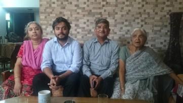 Dabral Family-Devraj Bhai, Shashi Bhabhi, Apoorv-Sarawati Buaji-Aug 2015