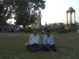 "FRIENDS WHO SHAPED MY PERSPECTIVE..With Tiwari-ji..India Gate lawns-2011-October...He taught me to see life at a ""Slow Shutter speed"" See Blog https://prashantbhatt.com/2012/10/26/seeing-life-at-the-slow-shutter-speed/"