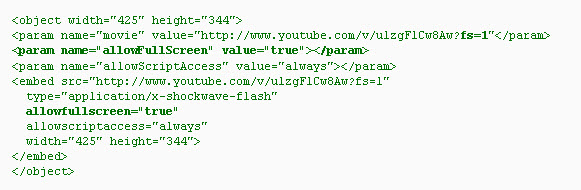 YouTube Embedded Player: List of Parameters