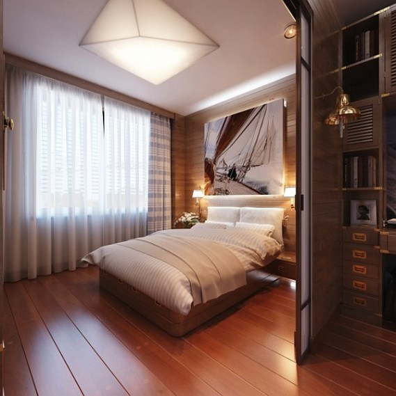 Kamar minimalis tema kayu