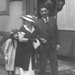 Tochter Liselotte, Ehefrau Helene, Karl Schaaf und Erich Weninger