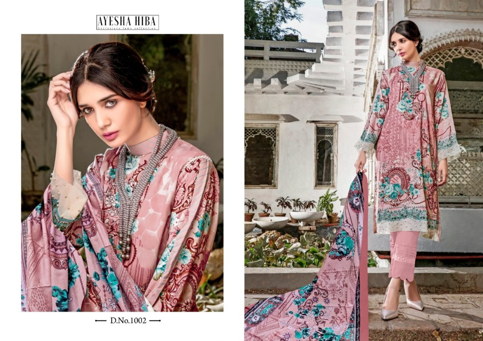 ayesha hiba exclusive lawn collection suits collection at pratham fashion
