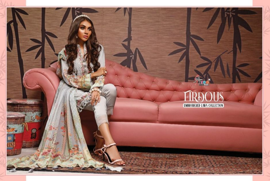 shree fabs firdous embroidered collection surat