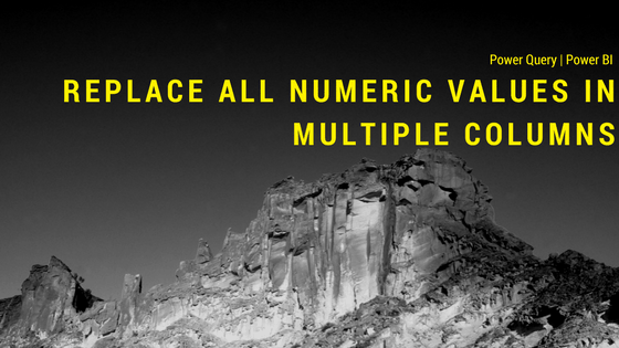 Replace all numeric values in multiple columns using