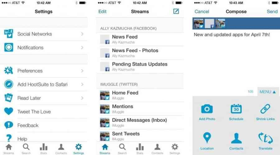 iPhone'dan Sosyal Medya Yönetimi