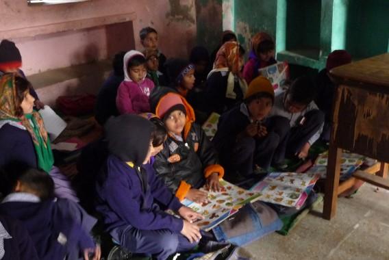 A dingy classroom