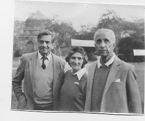 My father on the right with my mother and a friend. He is wearing his favourite Harris tweed jacket with worn patches at the elbow. After 18 holes at the Delhi Golf Club.