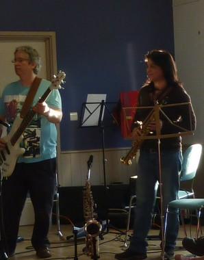Trish on the saxophone