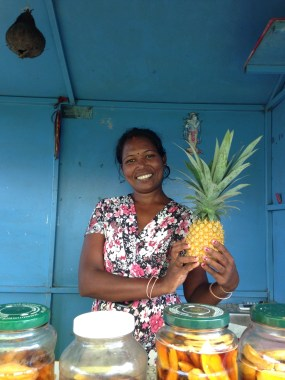 Jyoti who pickles her own starfruit, pineapple and green mango