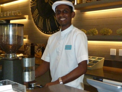 Sushil, an excellent barista and conscientious householder