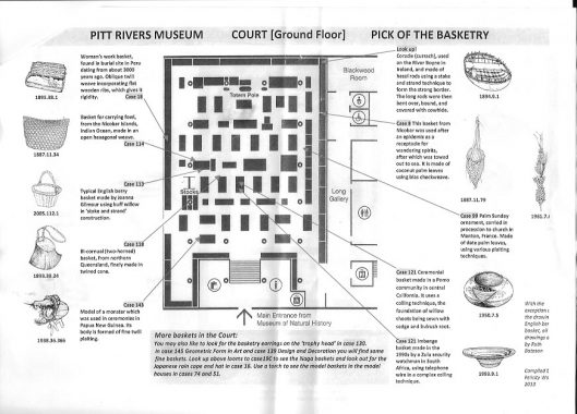 location of interesting baskets at the Pitt Rivers