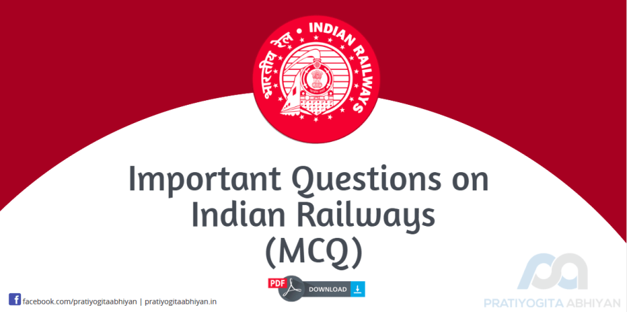 Important Questions on Indian Railways Bangla (MCQ) PDF