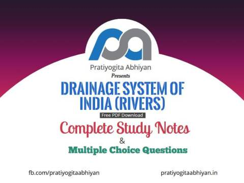 Drainage System of India (Notes+MCQ) Free PDF Download