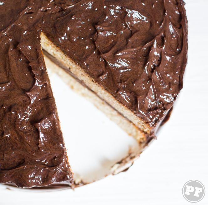Bolo de Banana e Creme de Chocolate