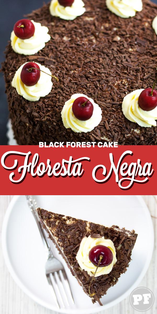 Bolo Floresta Negra   Black Forest Cake por PratoFundo.com