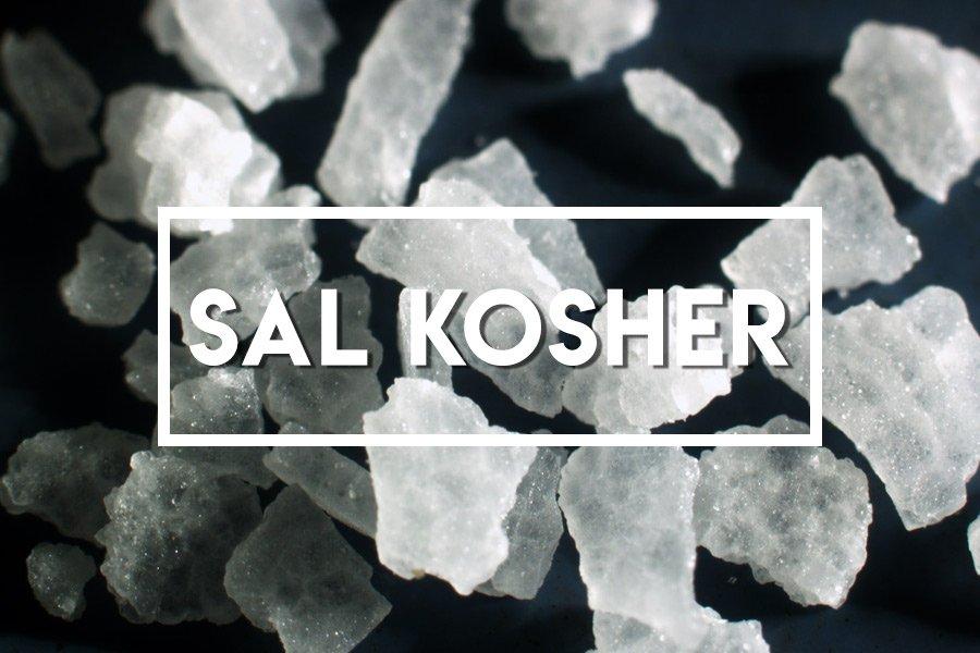 Imagem de sal kosher em detalhe macro
