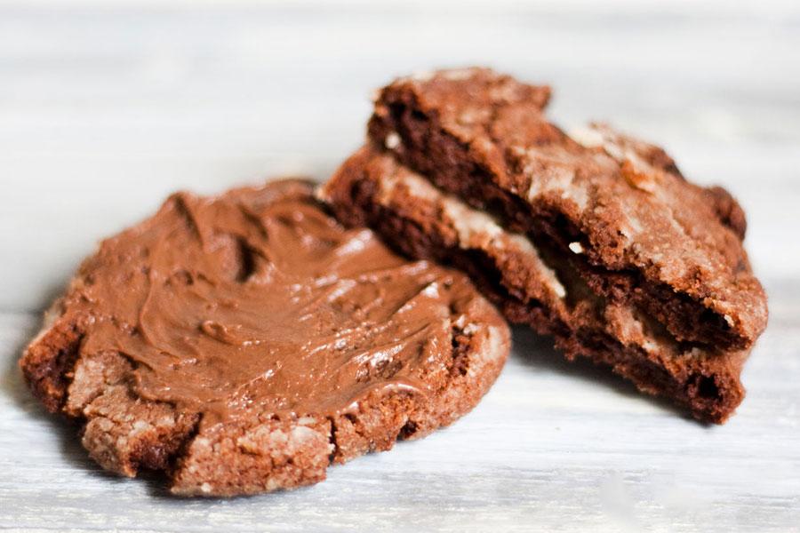 Cookies de Nutella e Chocolate por PratoFundo.com