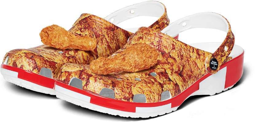Crocs, sapato com as cores da KFC