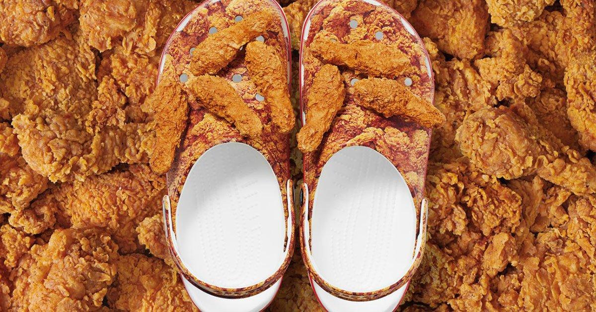Colaboração do KFC x Crocs: Crocs de Frango Frito | PratoFundo