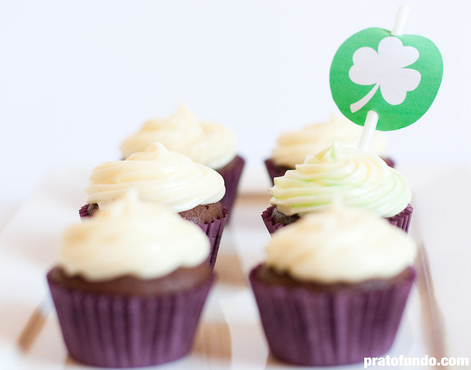 St. Patrick's Day Cupcake: Chocolate & Menta
