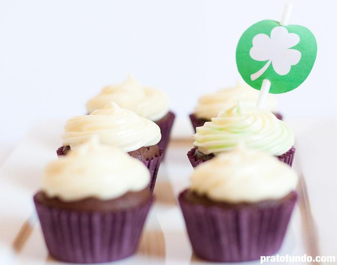 St. Patrick's Day Cupcake: Chocolate & Menta