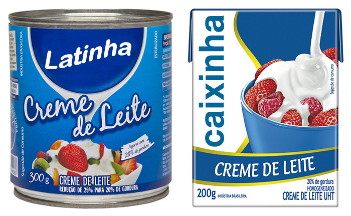 Ingredientes: Lata e Caixinha