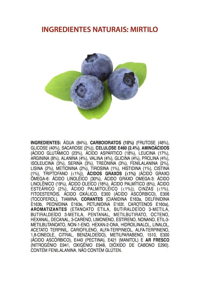 Ingredientes Naturais: Mirtilo