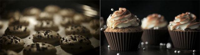 Macaron e Cupcake