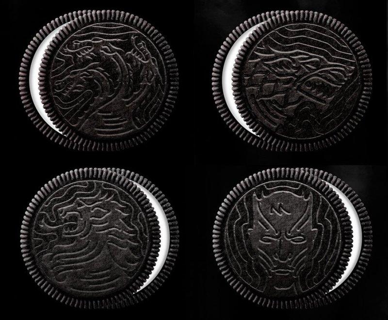 Oreo com 4 desenhos de Game of Thrones