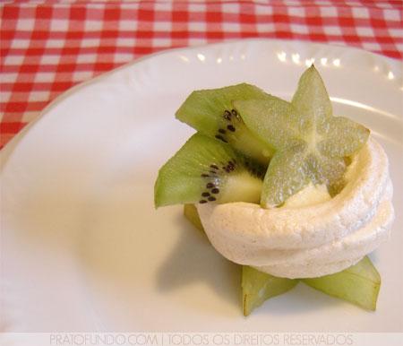 Petit Fours: Mini Ninho de Merengue e Frutas