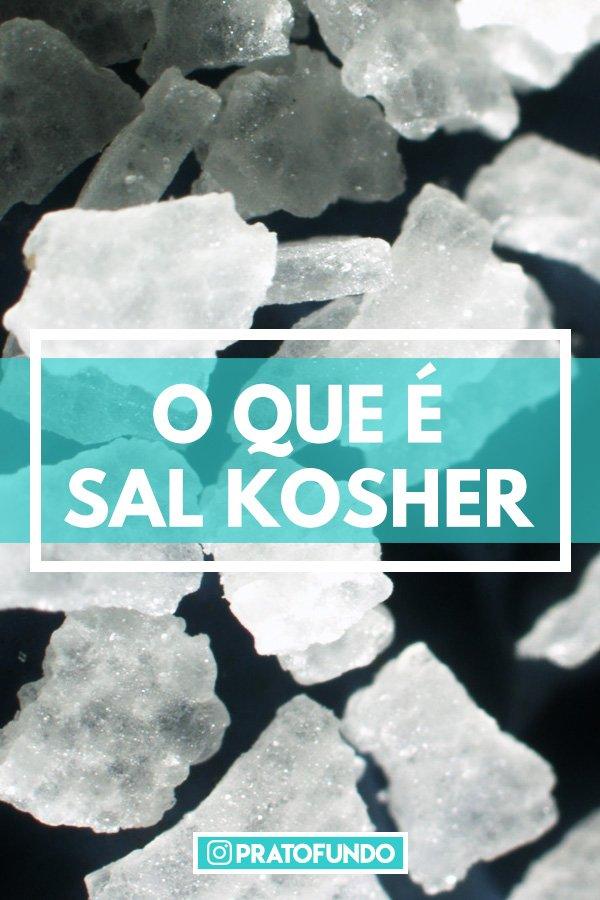 Poster com foto de sal de fundo com os dizeres: o que é sal kosher