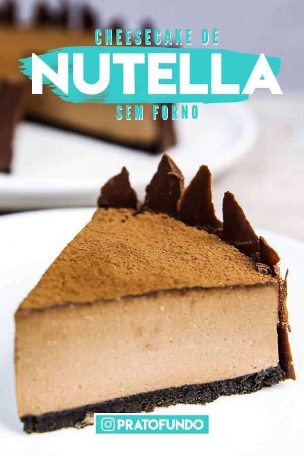 Pedaço de Cheesecake de Nutella