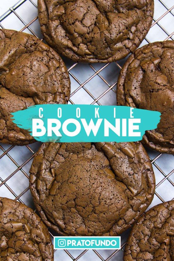 Cookie Brownie de Chocolate