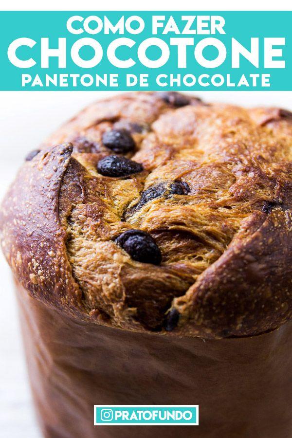 Chocotone: Panetone de Chocolate Tradicional e Recheio Trufado