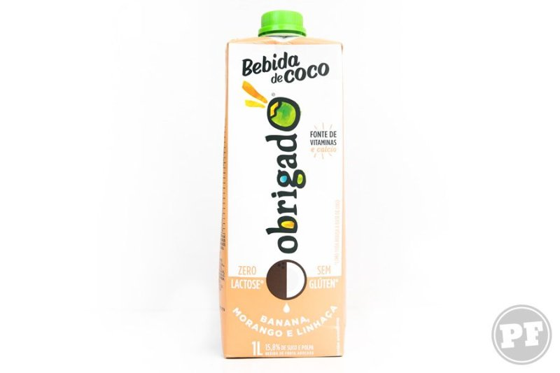 Resenha: Bebida de Coco de Banana, Morango e Linhaça da Obrigado