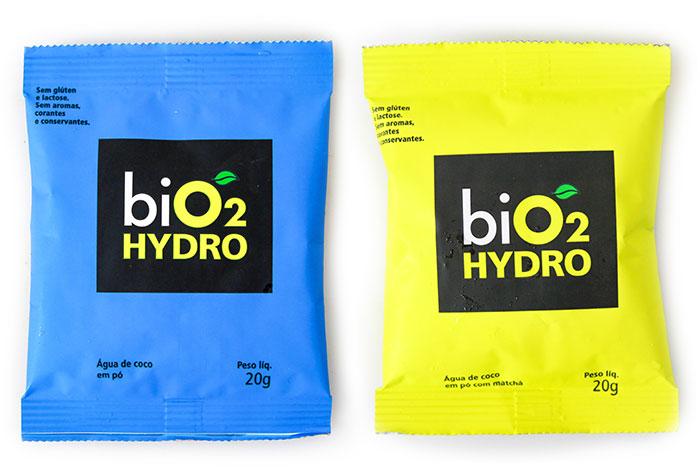 Embalagem da  Água de Coco em Pó Hydro BiO2 por PratoFundo.com