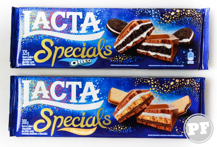 PraComer: Lacta Specials Oreo e Chocobiscuit, as barras de 300g