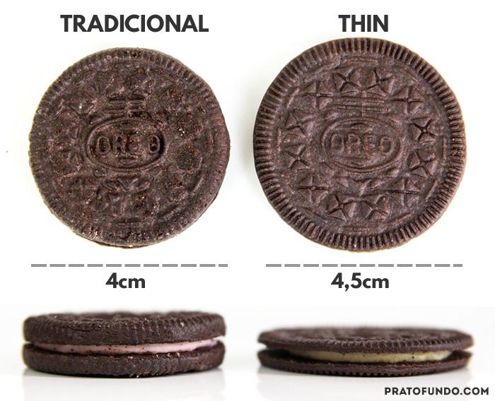 Oreo Thin: Comparativo