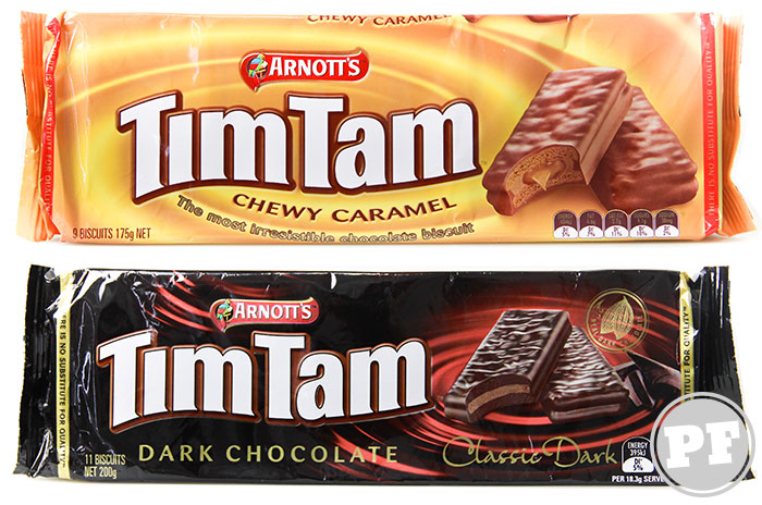 Tim Tam Australiano: Caramel e Dark por PratoFundo.com