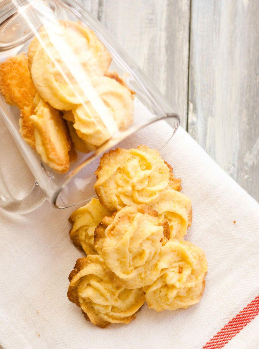 Biscoito Amanteigado de Polenta e Limão Siciliano