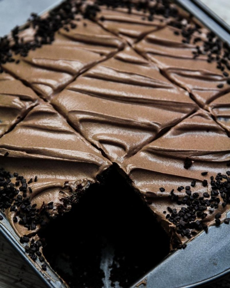 Bolo de chocolate na forma