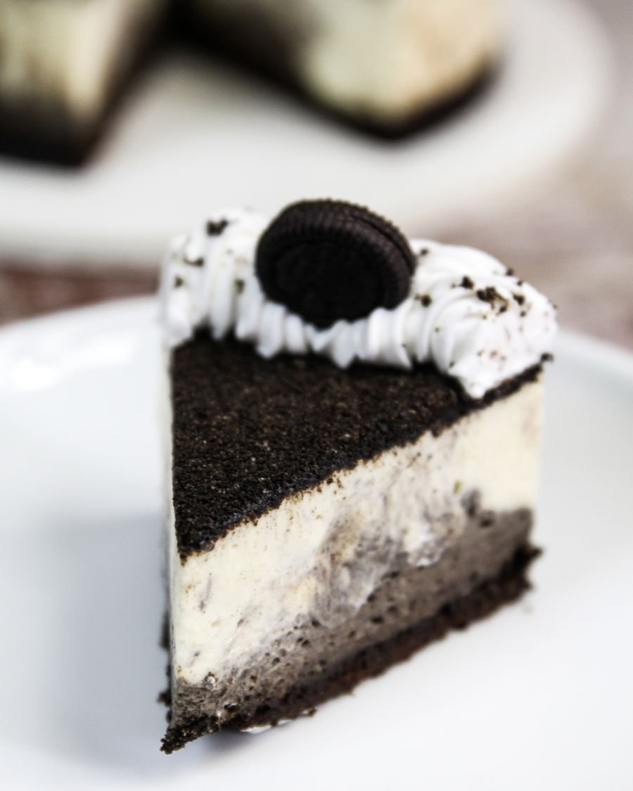 Pedaço de Cheesecake de Oreo