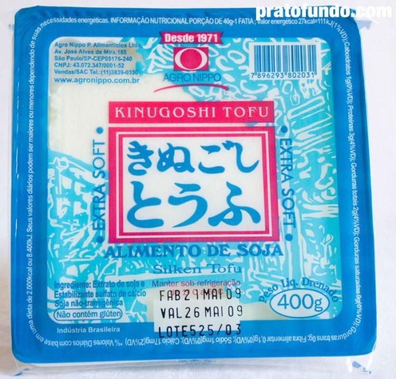 Embalagem do tofu extra soft azul e rosa